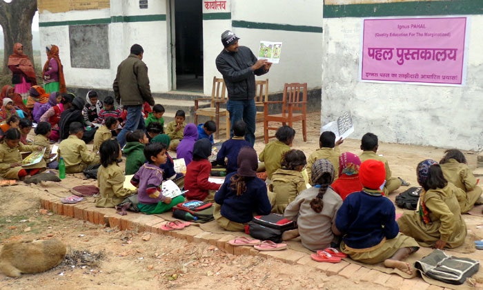 """Adopt A Library"" takes off in a village near Allahabad"